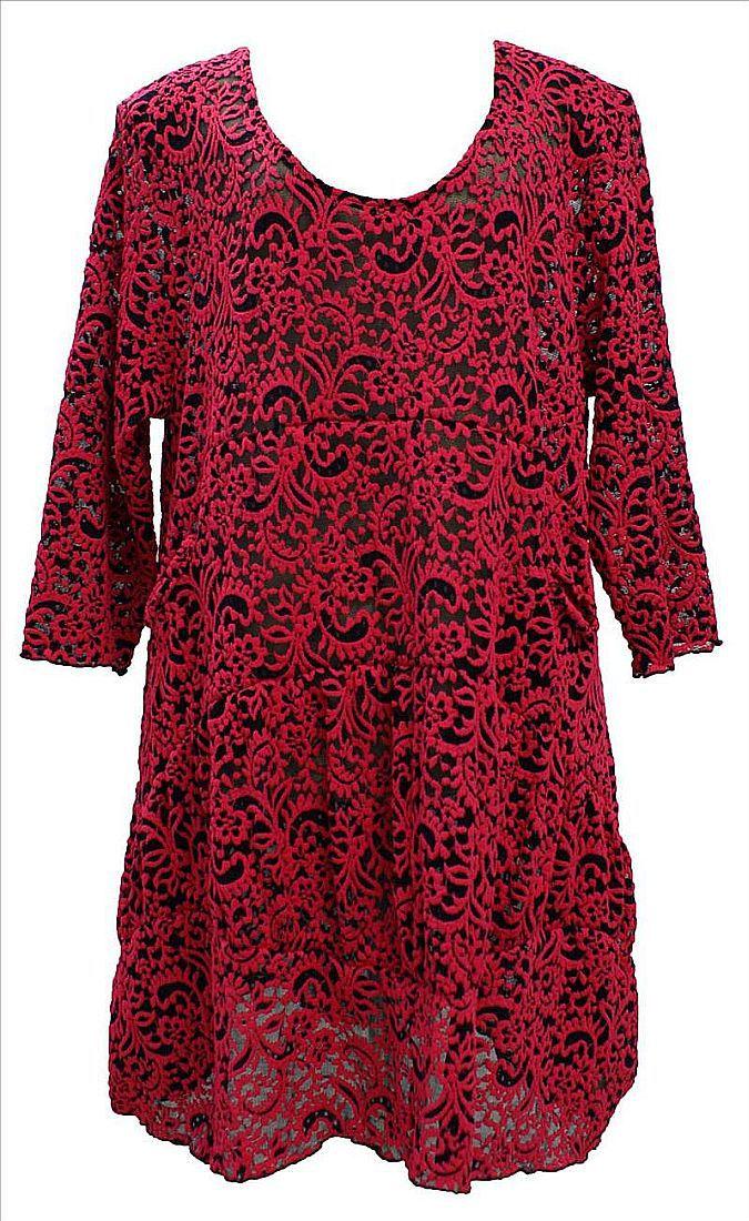 rot lagenlook tunika kleid xl xxl akh festlich bei. Black Bedroom Furniture Sets. Home Design Ideas