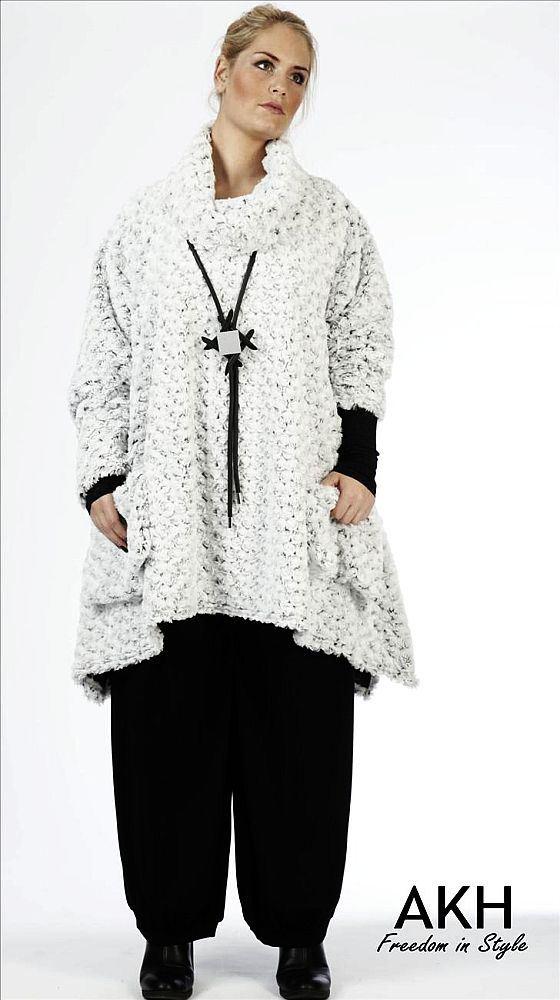 AKH Fashion Lagenlook Pullover Zipfel | modeolymp.lafeo.de