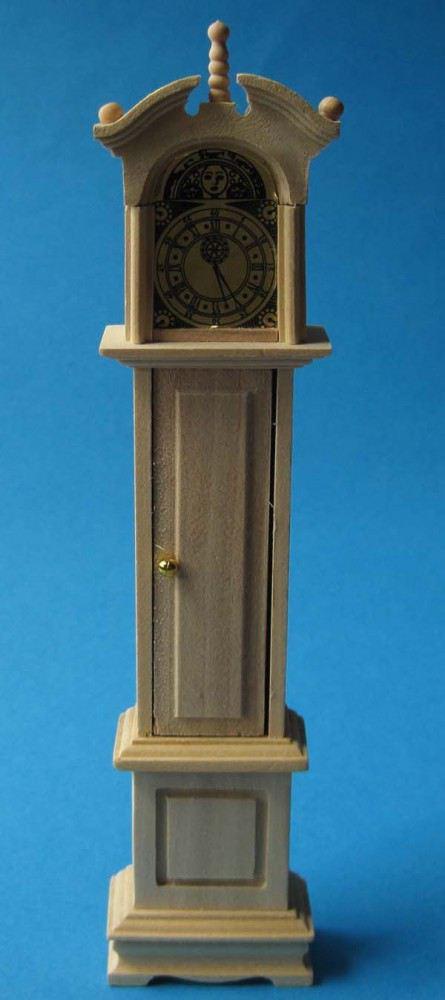 Eiche hell  Standuhr mit Pendel Holz Natur Puppenm?bel 112 zum