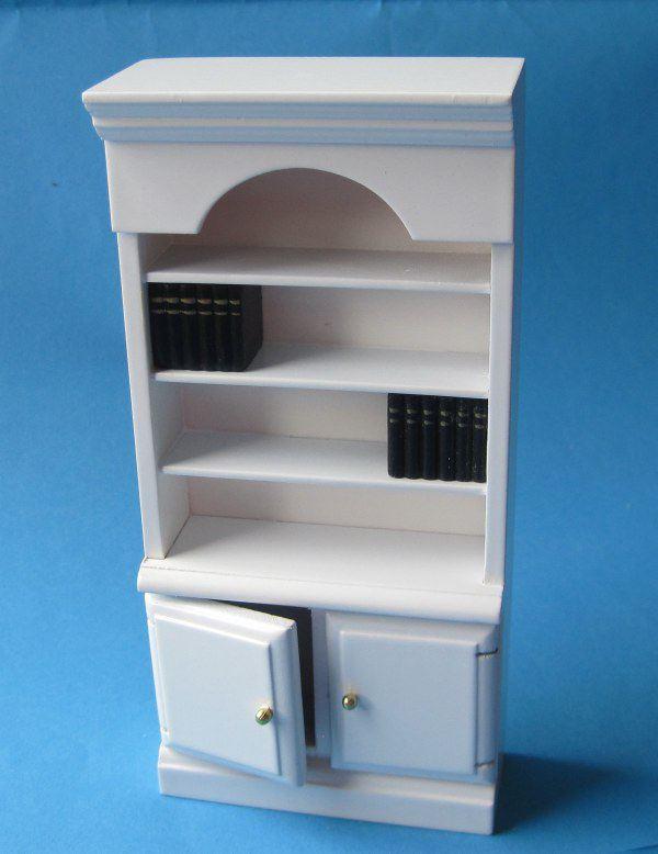 b cherregal weiss puppenhaus m bel f r wohnzimmer. Black Bedroom Furniture Sets. Home Design Ideas