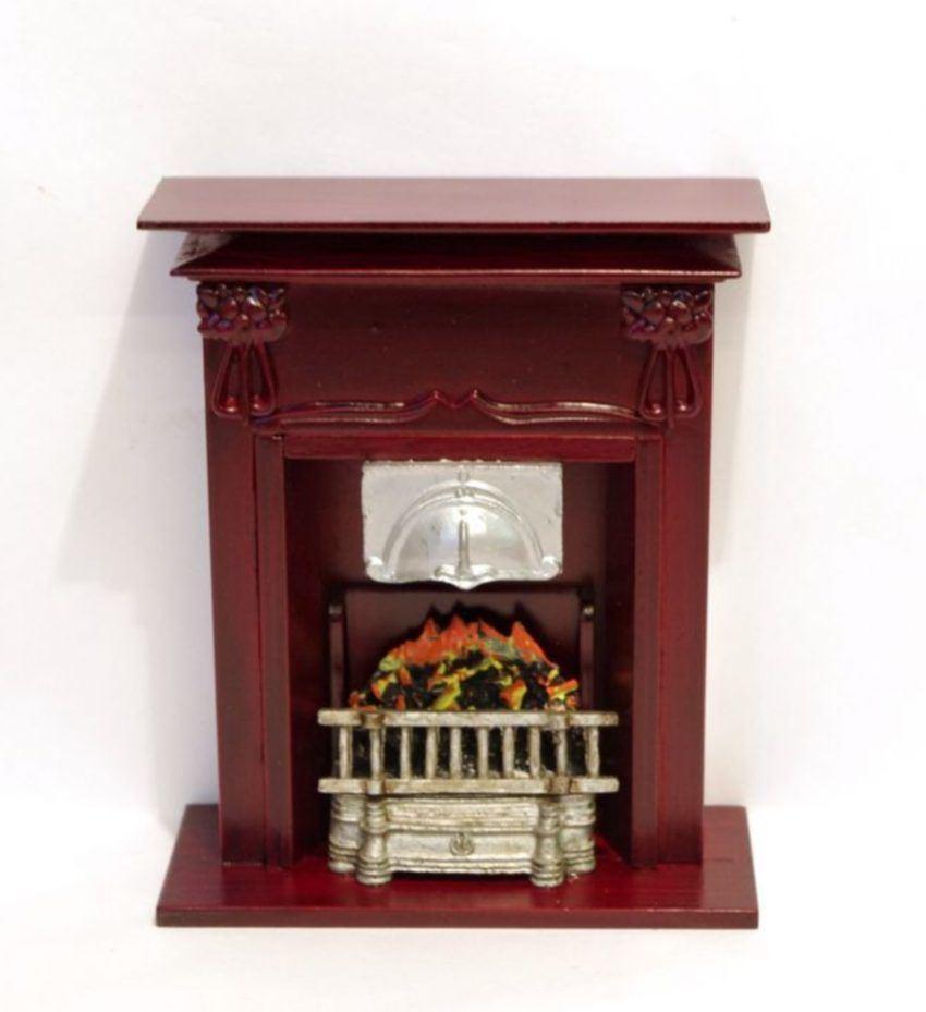 grosser kamin edel puppenhausm bel dekorationen. Black Bedroom Furniture Sets. Home Design Ideas