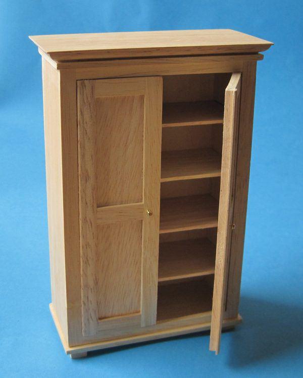 puppenhaus kleiderschrank natur miniatur m bel 1 12 bei wossiland. Black Bedroom Furniture Sets. Home Design Ideas