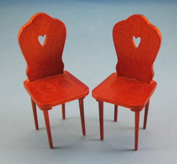 puppenhaus stuhl f r die k che 2er set miniatur 1 12. Black Bedroom Furniture Sets. Home Design Ideas