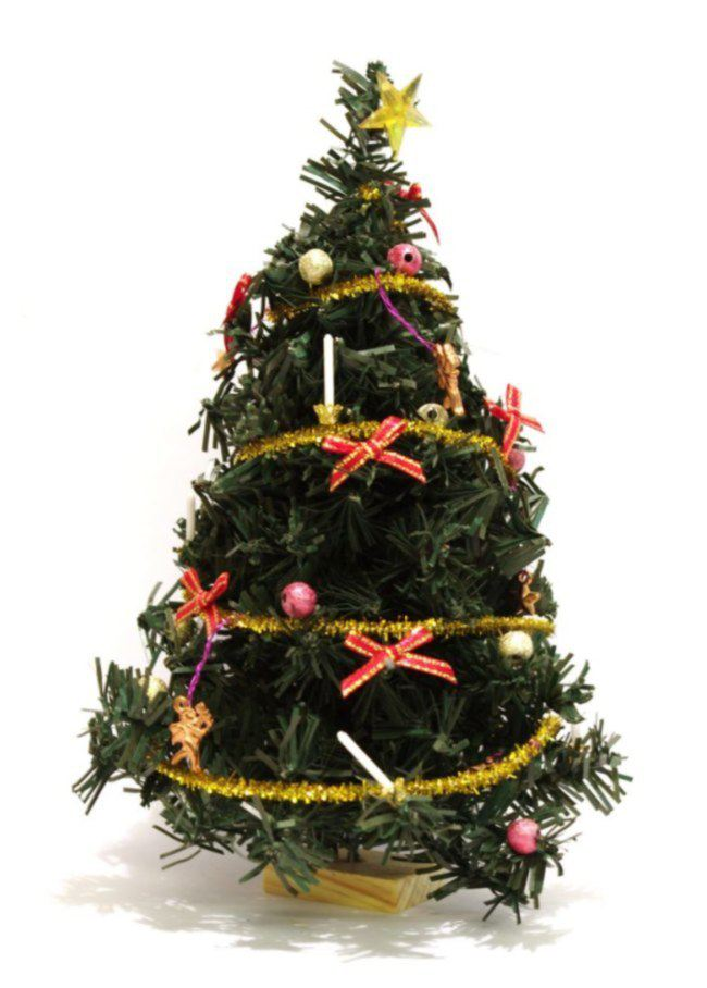 puppenhaus weihnachtsbaum tannenbaum geschmueckt