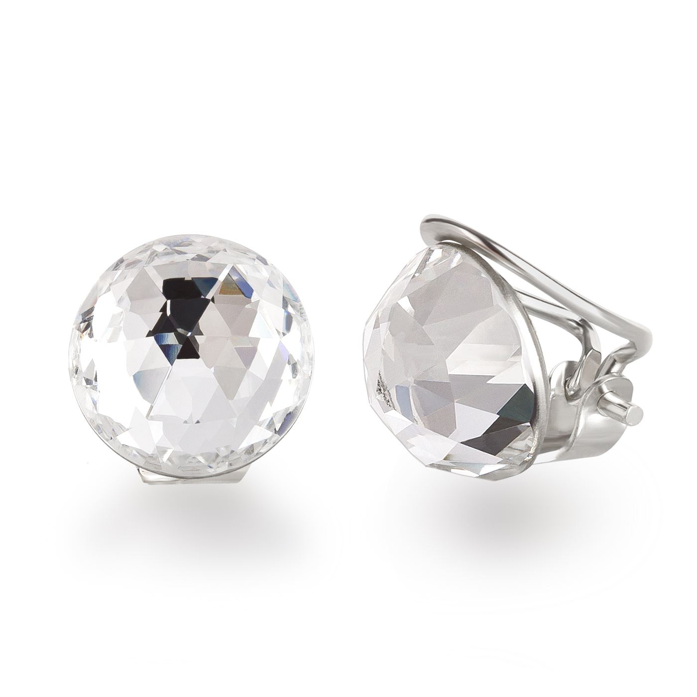 Ohrclips  Ohrclips aus 925 Silber mit SWAROVSKI ELEMENTS Kristall - Ohrringe ...