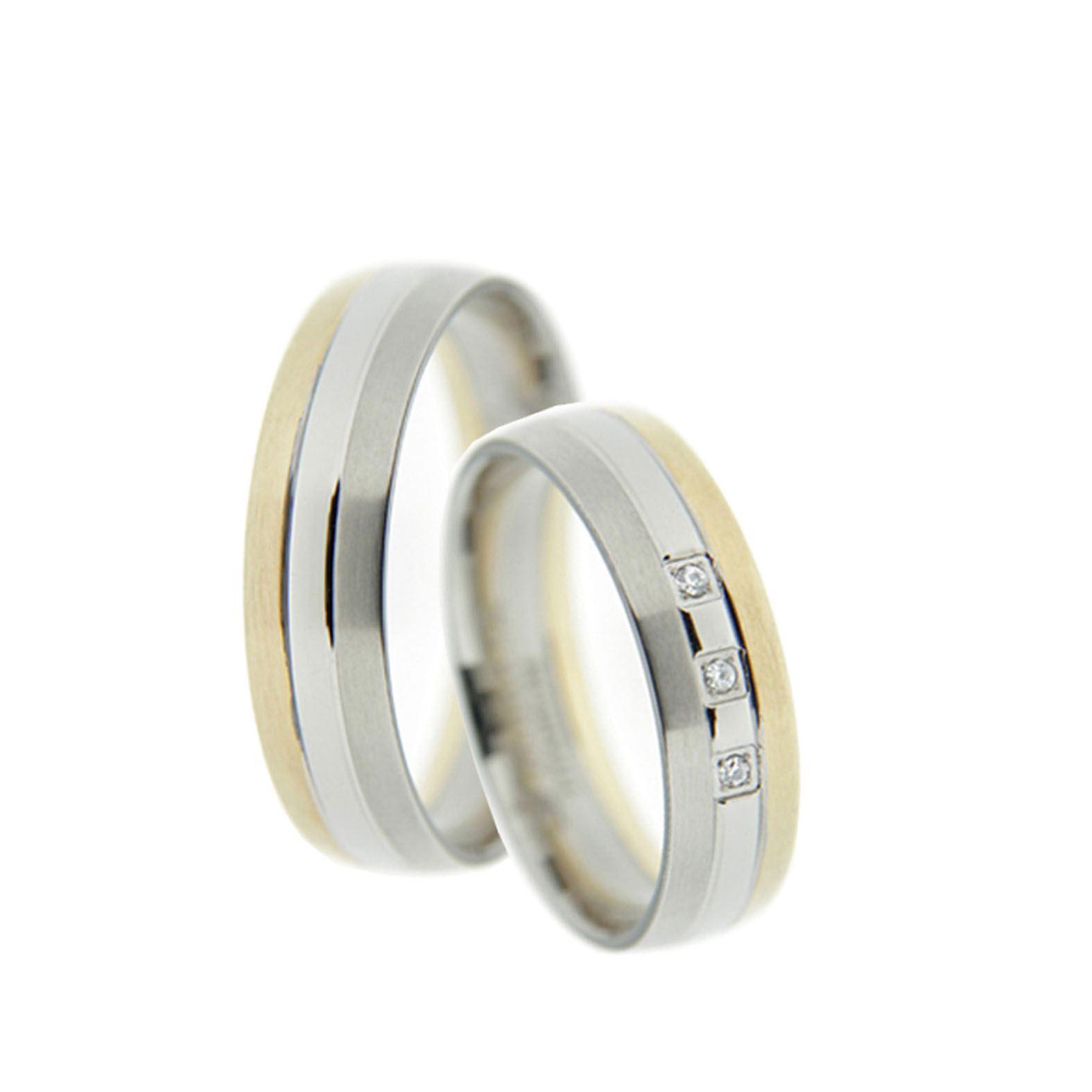 Bicolor Ringe Verlobungsringe, Freundschaftsringe, Partnerringe ...