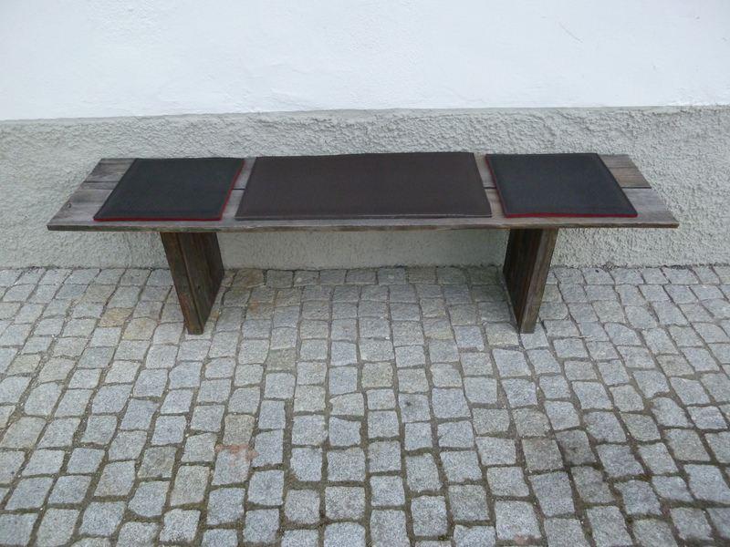 Sitzauflage neck aus filz und b ffelleder 37 x 37 cm - Stuhlauflage filz ...