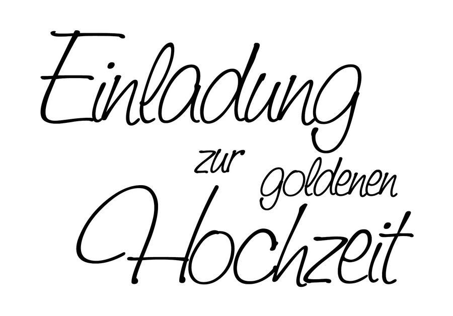 Stempel U0027Einladung Zur Goldenen Hochzeitu0027