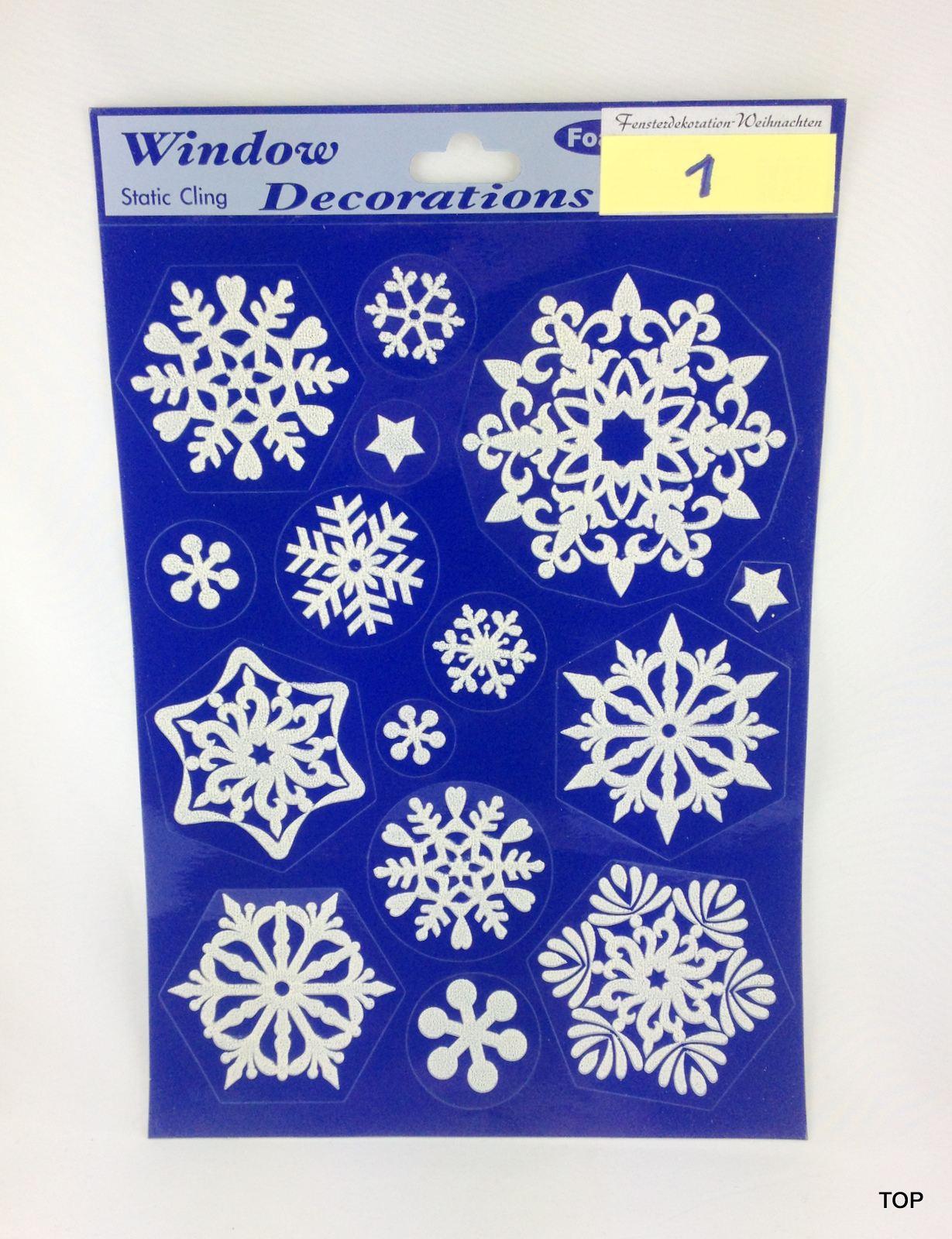 1 x weihnachts fensterdeko 20 x 30 cm schneeflocke glitter. Black Bedroom Furniture Sets. Home Design Ideas