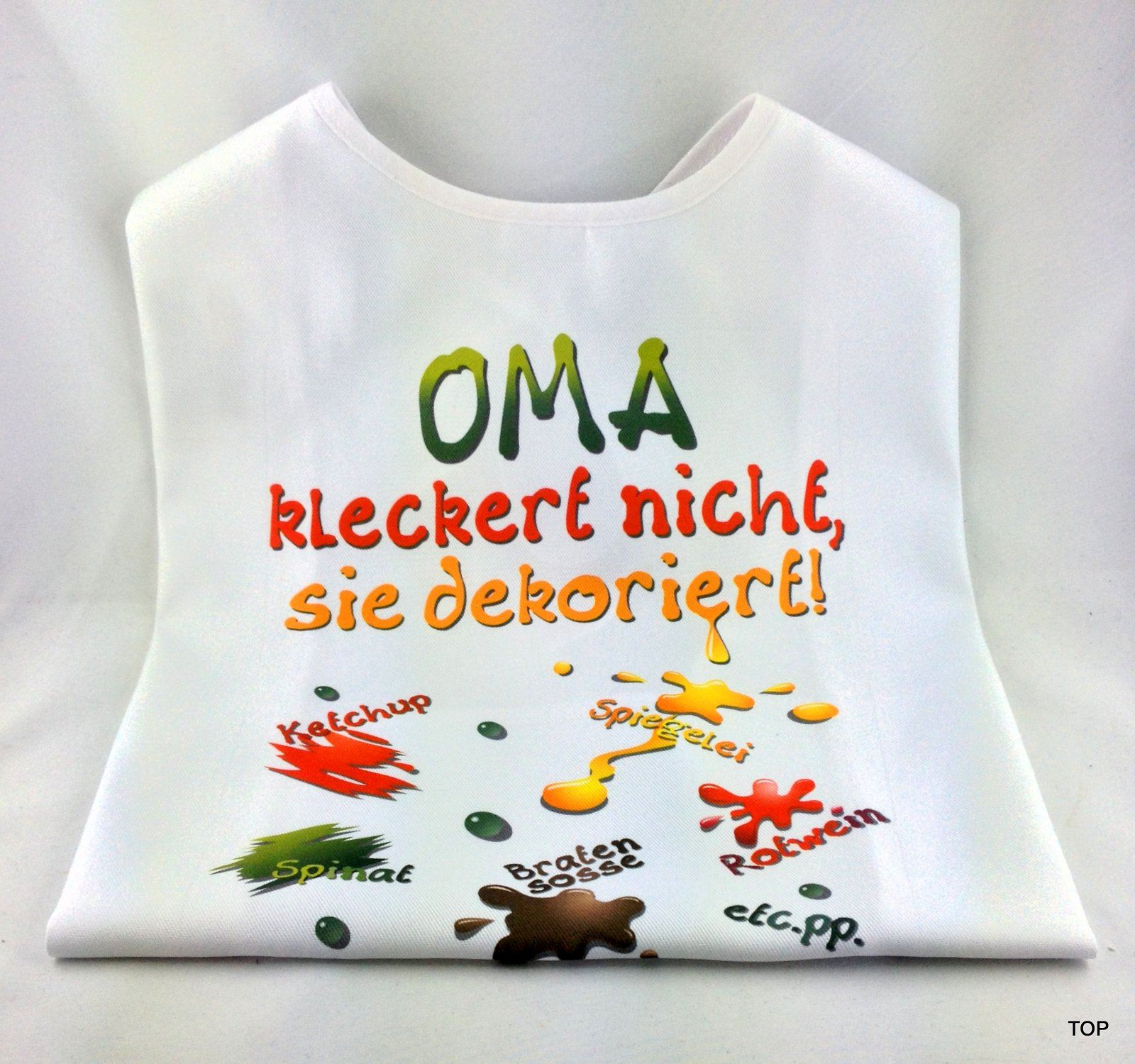 XL Latz   Oma Kleckert Nicht, Sie Dekoriert Lätzchen Für Erwachsene Witzige  Party Gag Geburtstag Scherzartikel