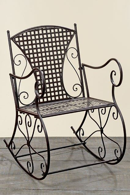 schaukelstuhl konya metall eisen braun nostalgie gartenmöbel stuhl, Gartenarbeit ideen