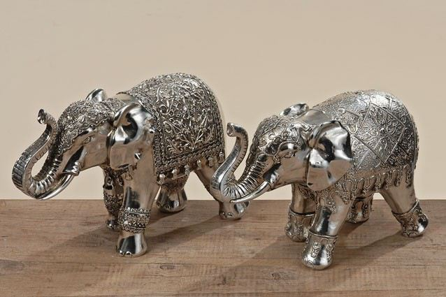 dekofigur elefant silberfarben dekoelefant dekoration indien deko statue figur dekoartikel. Black Bedroom Furniture Sets. Home Design Ideas