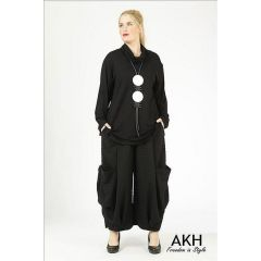 Lagenlook Hose schwarz AKH Fashion