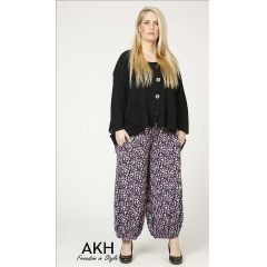 Lagenlook Hose Tupfen flieder AKH Fashion