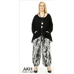 Lagenlook Hose graue Tropfen AKH Fashion