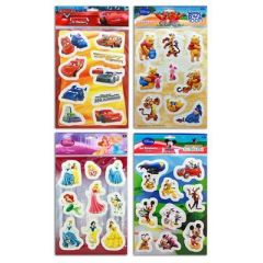 Aufkleber - Sticker Disney - Sticker 3D - Winnie Puuh - Cars - Micky Maus - Prinzessinnen