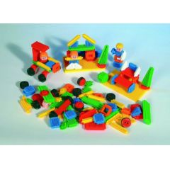 Bausteine - Steckbausteine - Stickle Bricks - 104 Teile -Clipo - Nopper