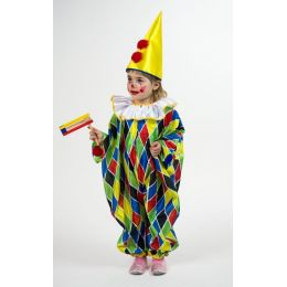 Clown - Kinderkostüm - Overall - Gr. 98/104