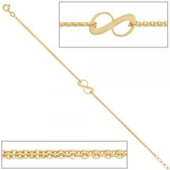 Armband 375 Gold Gelbgold 19 cm - 7,3 mm Federring