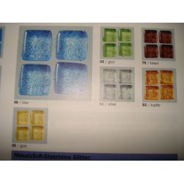 Mosaix Soft-Glassteine Glitter 20 x 20 mm