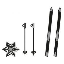 Craftables Skis and snowflake CR1252 Marianne Design Stanze Dies