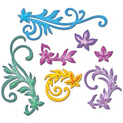 Spellbinders 7 Stanzformen Shapeabilities Floral Flourishes S4-327