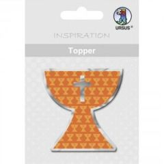 "Topper ""Kelch"" orange Serie Joy"