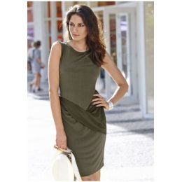 Jerseykleid Vivance Collection, 38, farbe oliv