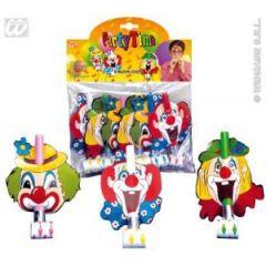 Luftrüssel Tröte Clown 6 Stck - Party Kindergeburtstag