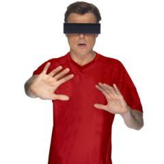 Brille mit schwarzem Balken zensiert - Gagbrille