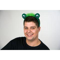 Kopfbügel mit Froschaugen - Haarreif Frosch - Kostümergänzung Frosch