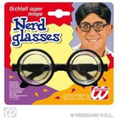 Brille - Gagbrille mit dicken Gläsern - Nerd - Karneval Fasching