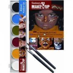 Malkasten - Aqua Farben - 6 Stück mit Pinsel und Anleitung