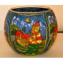Kerzenfarm Leuchtglas Castle Tirol, Größe 11 cm, Teelicht