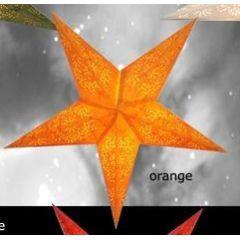 Weihnachtsstern Galaxy, Orange, mit 3 m. Stromkabel