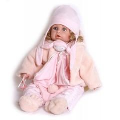 Puppe Laura mit schicker Winterkleidung Oberndörfer Sammlerpuppe