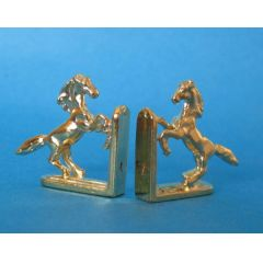 Buchstuetzen Pferde goldfarben Metall Puppenhaus Dekorationen Miniaturen 1:12