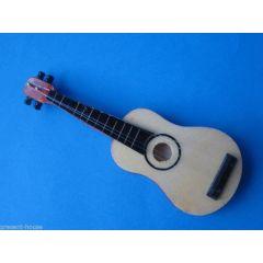 Gitarre für das Musikzimmer im Puppenhaus Dekoration Miniaturen 1:12
