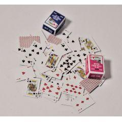 Mini Kartenspiel 54 Karten Puppenhaus Dekorationen Miniatur 1:12