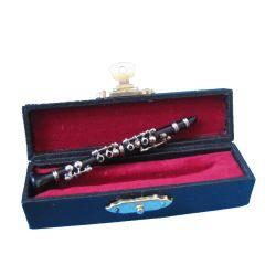 Puppenhaus Klarinette schwarz Koffer Musikinstrument Miniaturen 1:12