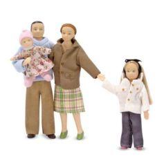 Victorianische Puppenfamilie  4 Figuren modern Miniaturen 1:12 Melissa & Doug
