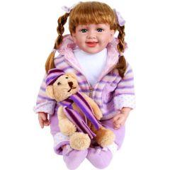 Puppe Jasmin mit Teddy Oberndörfer Sammlerpuppe
