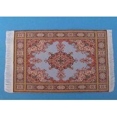 Puppenstuben Teppich blau 16,5 x 10 cm Puppenhaus Möbel Miniatur 1:12