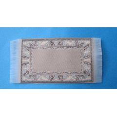 Puppenstuben Teppich beige 9,5 x 5 cm Puppenhaus Möbel Miniaturen 1:12