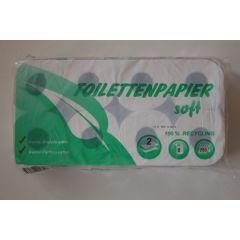 Toilettenpapier 128 Rollen 250 Blatt, 2 lagig, recyceling, weisslich/natur