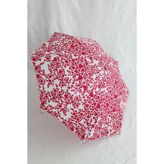 Esprit Regenschirm super mini Herz weiß / pink
