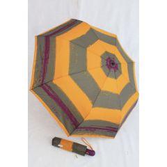 Esprit Regenschirm Easymatic gelb gestreift Taschenschirm
