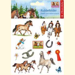 Pferdefreunde Rubbelbilder