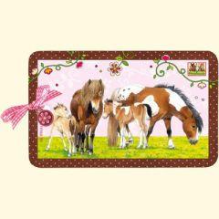 Frühstücksbrettchen / Vesperbrettchen / Brotzeitbrettchen Pferdefreunde