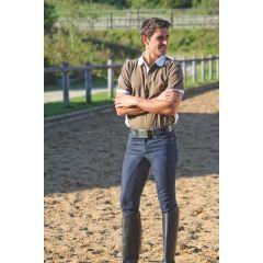 Herren-Reithose Jeans DENIM, 3/4-Besatz, Gr. 50
